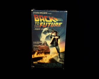 Back To The Future - 1986 - Vintage VHS Tape - MCA Home Video - Steven Spielberg - 80s movies