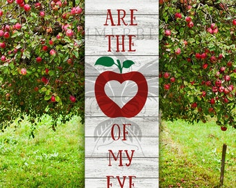 You Are The Apple of My Eye SVG | SVG Sayings | Svg Sign Design | Silhouette svg | Cricut svg | Svg quote | Valentine svg | Love quote svg