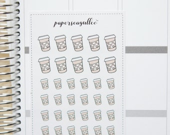 Coffee Cup  - hand drawn matte planner stickers