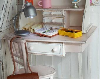 Detachable desk table, 1:6 scale doll Blythe, Pullip, Dal, Momoko, Barbie size BJD YOSD, licca, azone, pure neemo...