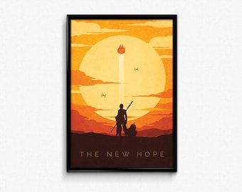 Star Wars The Force Awakens Rey Poster Print