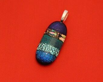 Multi-colored Dichroic Glass Pendant