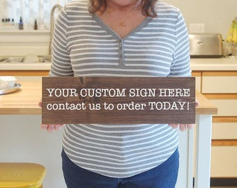 Personalized Family Wood Signs, Custom Signs, Family Name Signs, Wooden Signs, Custom Wood Signs, Create Your Own Sign
