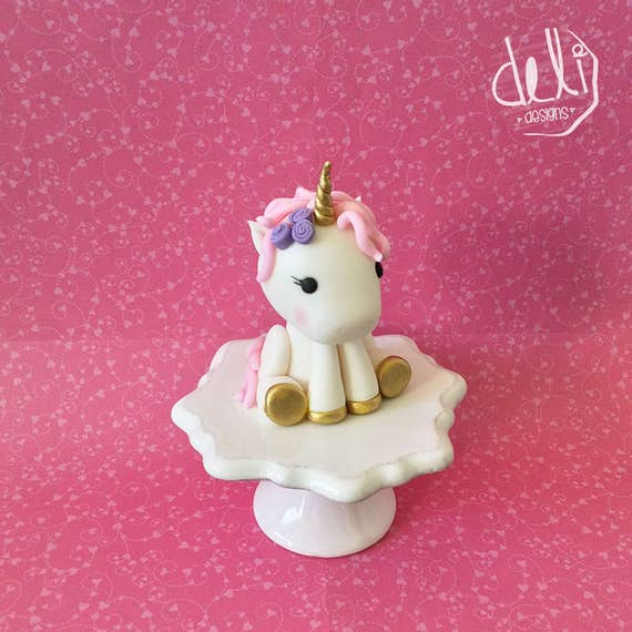 unicorn cake topper edible fondant baby unicorn cake topper 8165