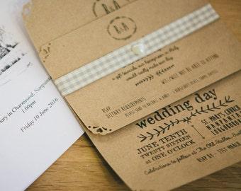 Suite de invitación de boda rústica de invitación de boda, invitación de la boda Boho, encaje boda invitan, país boda, invitación de cena de ensayo