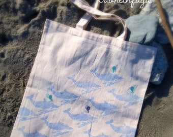Shopper bag humpback whale