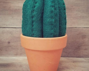 Tall Felt Flowering Cactus | Home Decor | Felt Cactus | Southwest Style | Felt Succulent | Nursery Decor