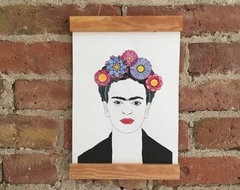 frida kahlo etsy. Black Bedroom Furniture Sets. Home Design Ideas