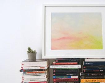Vanilla sky; original pastel drawing