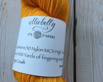 "Elliebelly MCN High Twist Sock Yarn ""Orange Crush"""