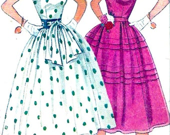 1950s party dress Prom vintage bridesmaid wedding sewing pattern Simplicity 4342 Bust 32