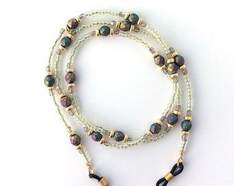 Czech Metallic Faceted Glass Bead Eyeglass Chain - 65