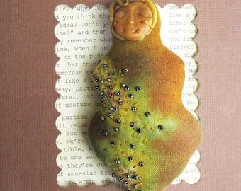 Bead Embroidered  Art Doll (Pastoral Goddess)