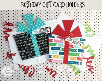 Celebrate! Birthday Gift Card Holder / Cash for Birthdays / Credit Card Holder / Birthday Gifts / Happy Birthday / Birthday Present