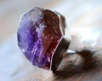 Raw Ametrine Gemstone Ring