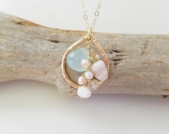 Beach Babe Gold Hawaiian Shell necklace made in Hawaii by Tidepools Jewelry - Shell jewelry, Hawaiian shell necklace, dainty shell necklace
