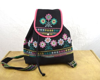 Vintage Super Cute Embroidered Mini Backpack