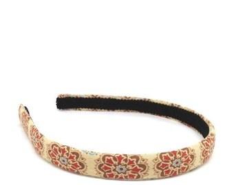 Floral Headband - Neutral Tone Headband - Big Girl Headband, Teen Headband, Adult Headband - Tan, Burnt Orange, Rus...