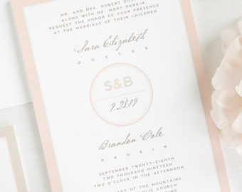 Modern Circle Logo Wedding Invitations - Deposit