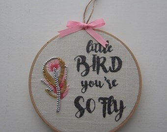 Little Bird - Embroidery Hoop Art