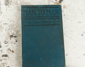 1920 MAN TO MAN Vintage Lined Notebook Journal