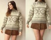 Vintage Chunky Danish Scandinavian Wool Knitted Jumper