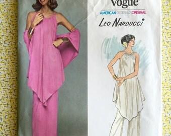 Vogue 1390 * Leo Narducci * American Degsigner Original * 1970s Dress Pattern
