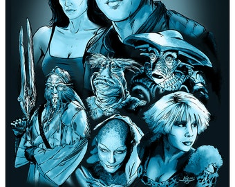 Farscape Poster - Artwork inspired by the Fantasy Series - Movie Poster Series