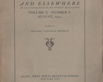 Vintage Art in America and Elsewhere Bi-Monthly Magazine Volume X Number V, August 1922