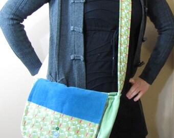 Mushroom Patchwork Messenger Bag