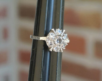 Sterling Silver Signed ESPO Ring ~ Flower Design ~ Size 4.75 -5 ~ Vintage Jewelry