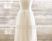 Midi length flower girl dress- Midi chiffon dresss- Ivory chiffon dress - Ivory chiffon flower girl dress - Toddler off white dress - Midi