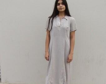 90s Grey tencel maxi dress