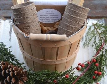 Vegetable Seed Kit, Heirloom Vegetable Garden, Seed and Garden Supply in Gift Basket Great Gift for Gardener