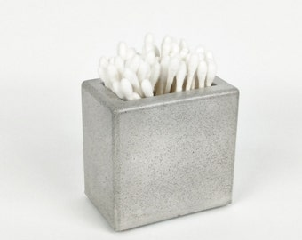 Concrete Q-Tip Holder / Qtip Jar / Qtip Container / Bathroom Organization