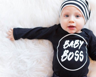 Baby Boy Gift, Baby Boy Clothing, Baby Shower Gift, Trendy Baby Boy Clothes, Tee, Baby Boss, Little Man, Toddler, Newborn Shirt - SHIRT ONLY