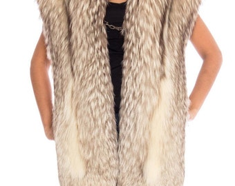 1960s Fur Stole With Chain Closure Size: S-L