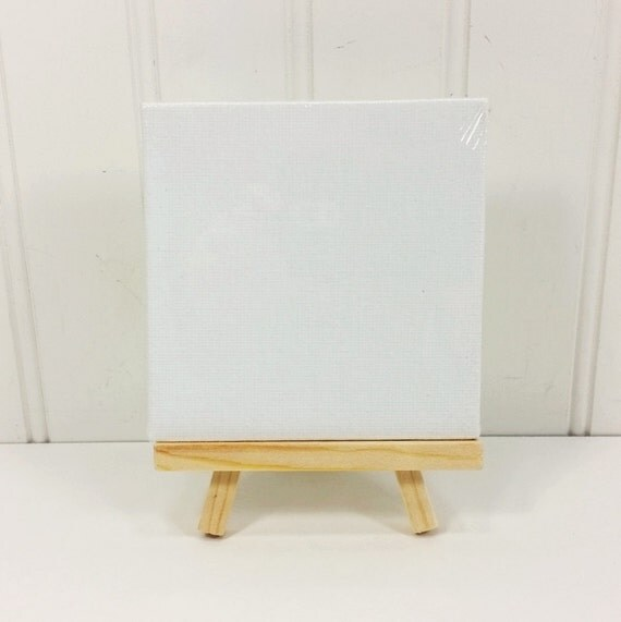 Canvas Panel and Easel Set, Miniature Art Panel and Natural Wood Easel DIY  Paint Set from NaturesWalkStudio on Etsy Studio - Canvas Panel And Easel Set, Miniature Art Panel And Natural Wood
