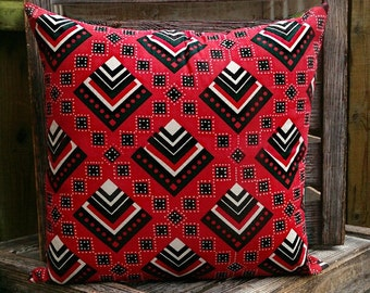 Red & Black Retso African Cushion by Afrocentric805, African Inpsired Home Decor, African Interior Design, African Homewares