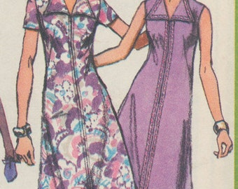 Vintage Simplicity 1970s sewing pattern: Ladies quick and easy dress -  size 16