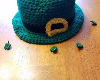 St Patrick's Day Crochet Leprechaun Bowler Hat