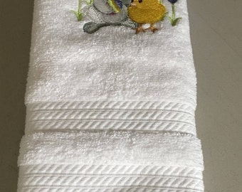Easter Embroidered Bathroom Hand Towel