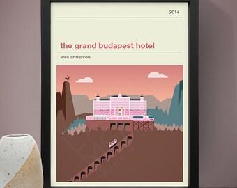 The Grand Budapest Hotel Movie Poster - Movie Poster, Movie Print, Film Poster, Film Poster
