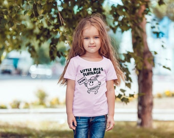 "Feminist Youth TShirt: ""Little Miss Suffrage"" Triblend Youth Shirt (multiple colors) by Fourth Wave Feminist Apparel"