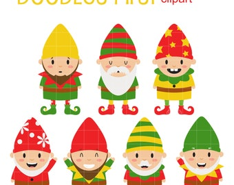Cute elf clipart etsy - Clipart weihnachtswichtel ...