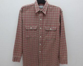 Sugar Cane Shirt Men Size L Vintage Sugar Cane Button Up Shirt 90s Sugar Cane Vintage Casual Shirt
