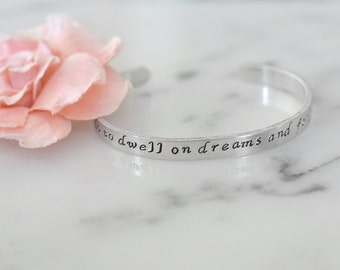"Harry Potter Inspired ""It Does Not Do to Dwell on Dreams and Forget to Live"" Bracelet 