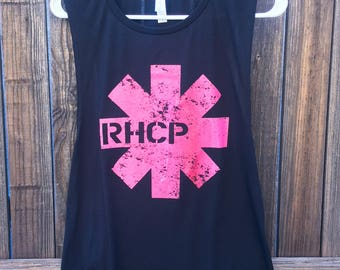 Red Hot Chili Peppers Shirt - Ladies Tank RHCP Womens Tank Music