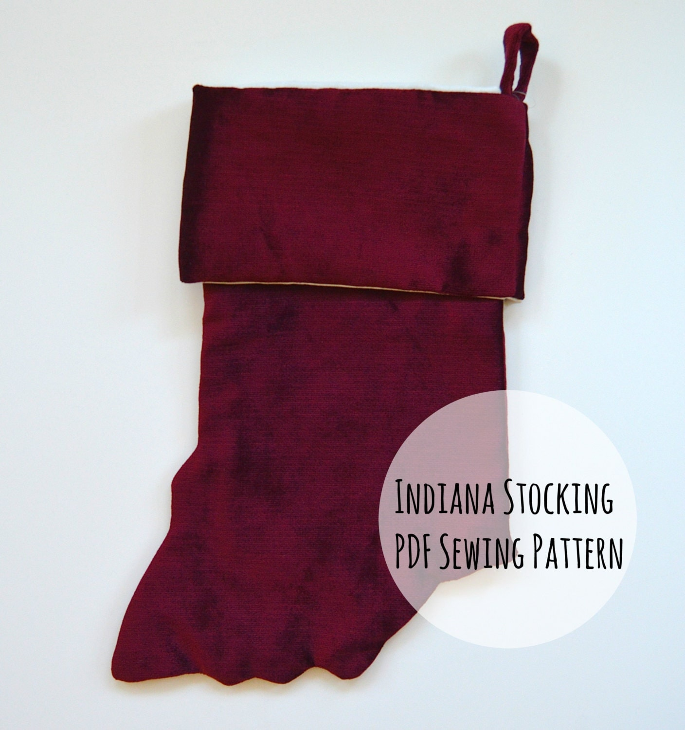Indiana stocking printable pdf sewing pattern christmas diy this is a digital file jeuxipadfo Gallery