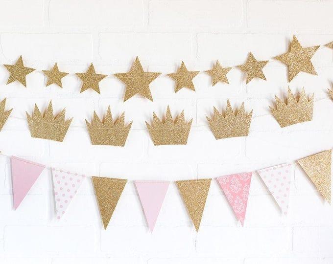 Star Banner, Metallic Gold Star Banner, First birthday banner, Star Garland,  Baby Shower Twinkle Twinkle Little Star